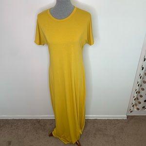⭐️3/$25⭐️ Lularoe Maria Mustard Maxi Dress